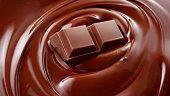 溶けたチョコレート背景/チョコレート/チョコレート背景を溶融/チョコレートバー