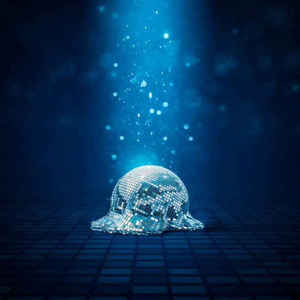 melted disco ball - dance floor stock photos and pictures