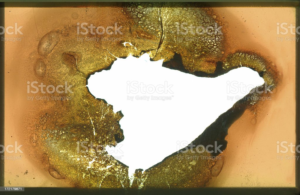 Melted Film Negative royalty-free stock photo