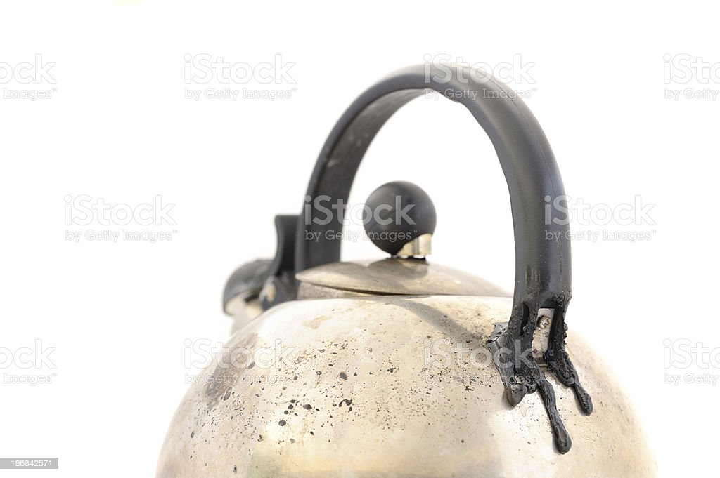 Melted Kettle stock photo