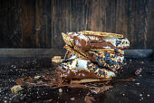 istock melted messy s'mores stack with toasted marshmallows 1157827431