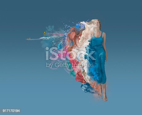 istock melting beauty at blue background 917170194