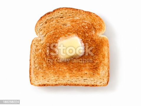 Melting Butter on White Toast with Natural Drop Shadow- Photographed on Hasselblad H3D2-39mb Camera