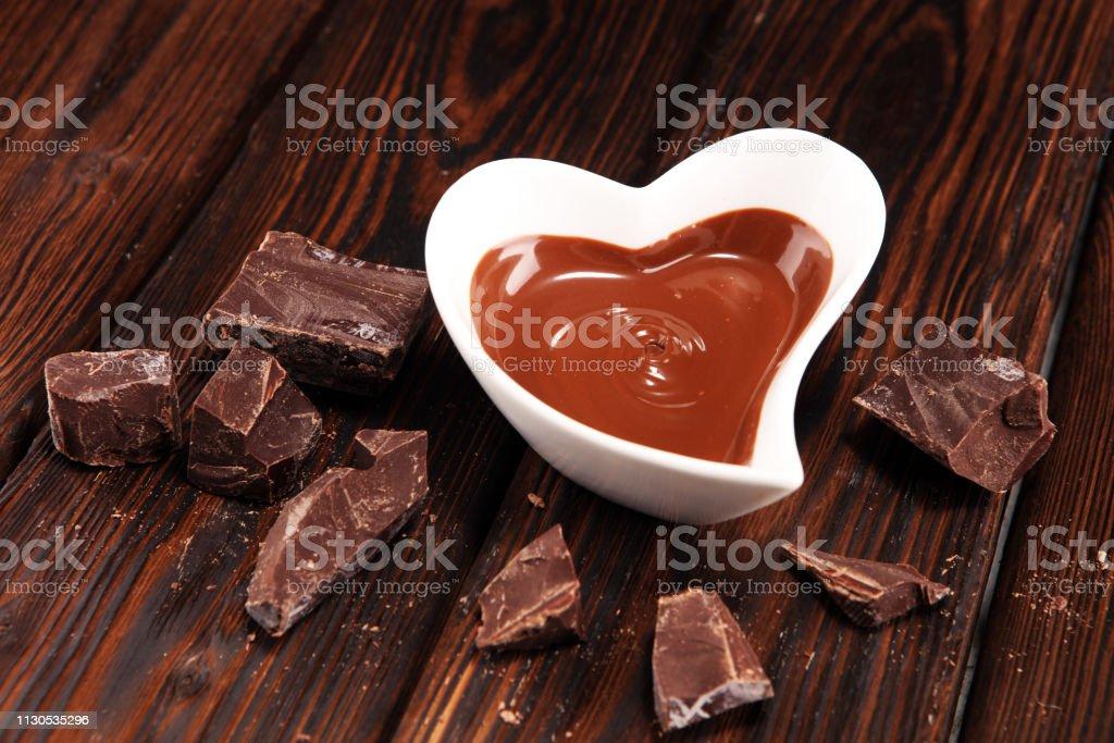 Melting chocolate / melted chocolate/ chocolate swirl andmade