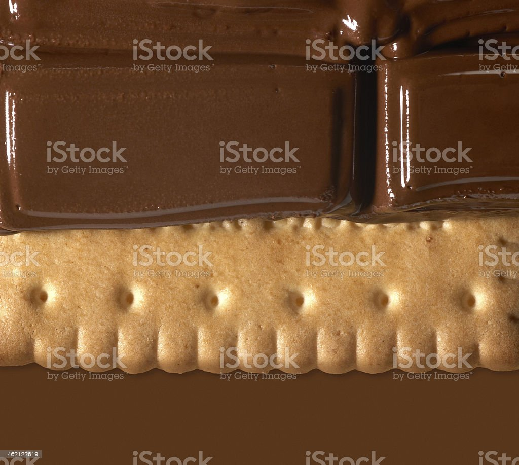 melting chocolate on shortbread royalty-free stock photo
