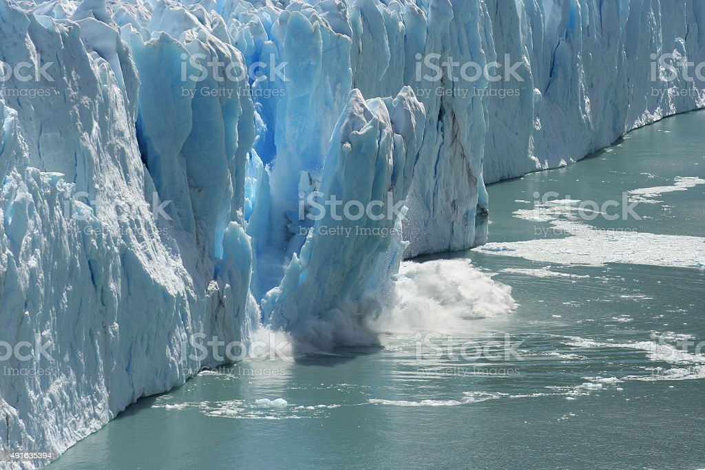Melting Glacier in a Global Warming Environment stock photo