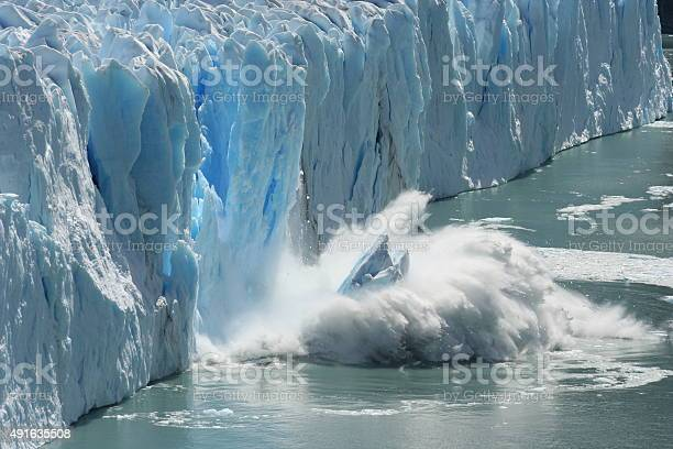 Melting Glacier In A Global Warming Environment Stock Photo - Download Image Now