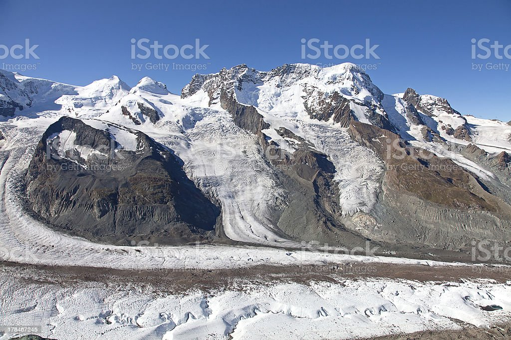 Melting glaciers royalty-free stock photo