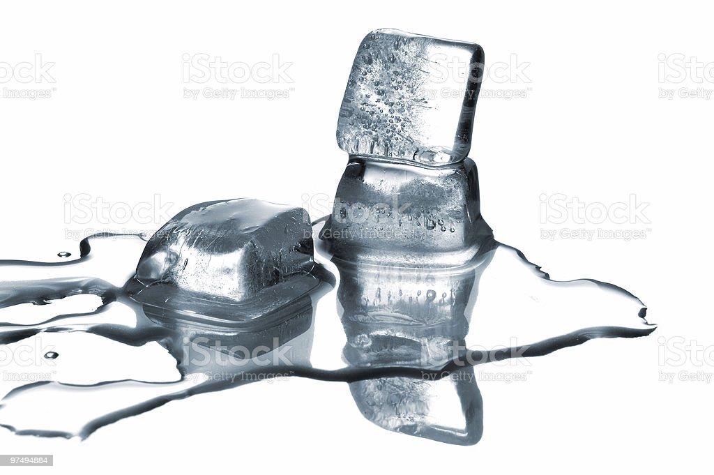Melting ice cubes royalty-free stock photo