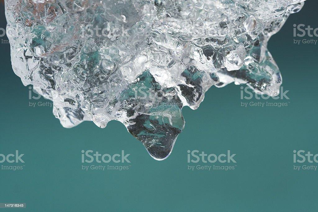 Melting ice from glacier stock photo