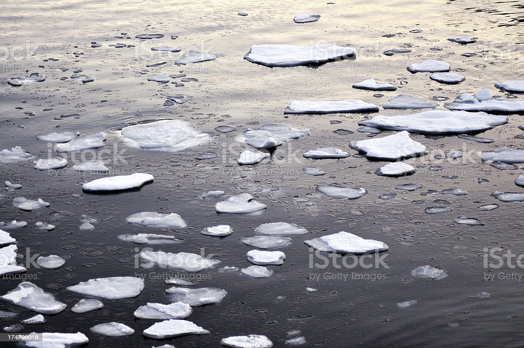 Melting Ice stock photo