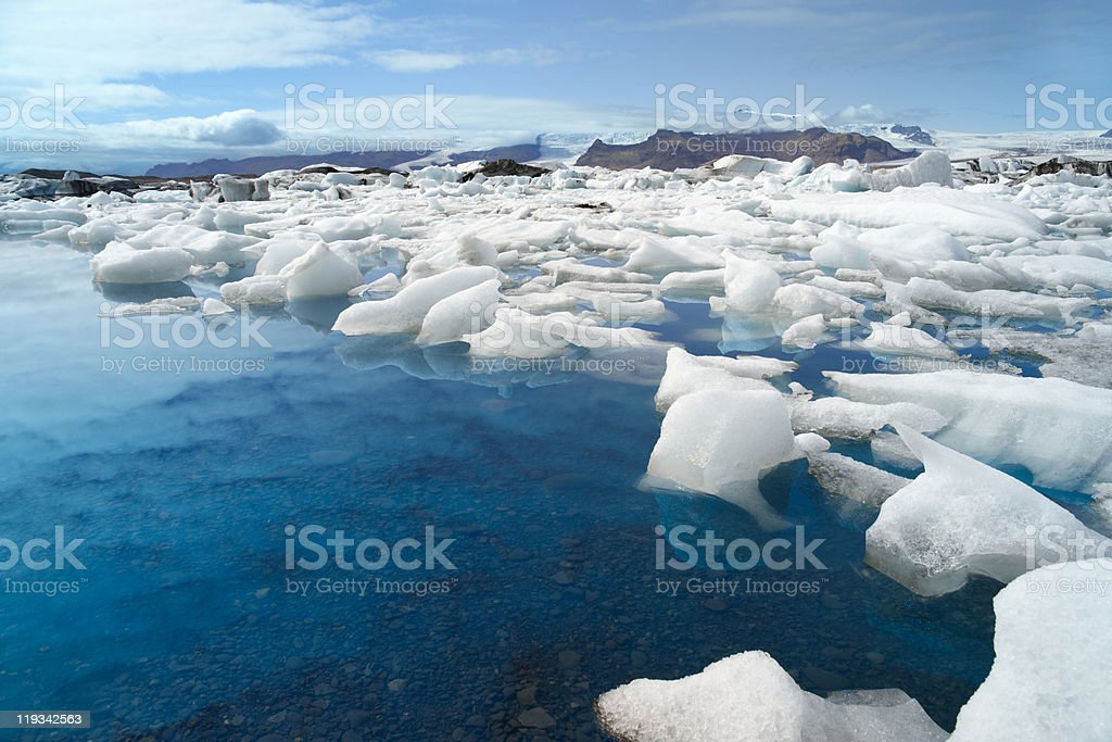 Melting Icebergs At Jokulsarlon Lagoon royalty-free stock photo