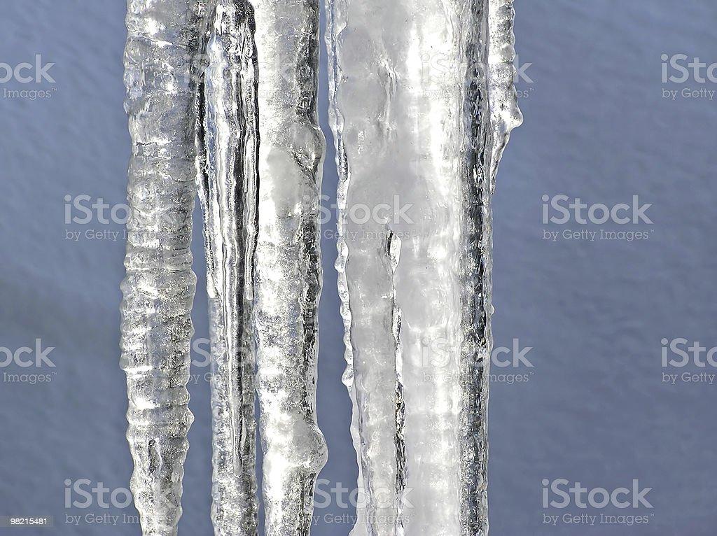 융해 icicles royalty-free 스톡 사진