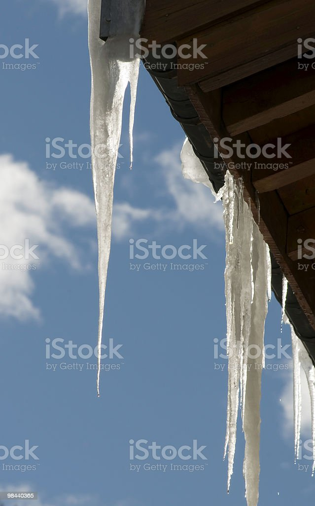 Melting Icicles royalty-free stock photo