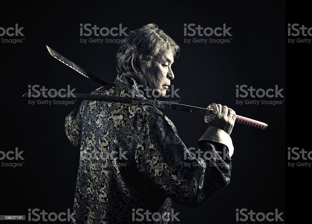 melting pot swordsman royalty-free stock photo