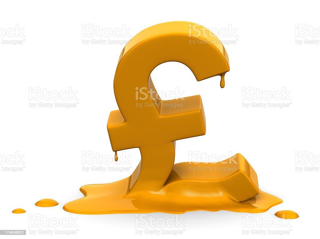 Melting Pound stock photo