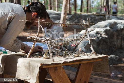 1061685100istockphoto Member of the annual reconstruction of the life of the Vikings -