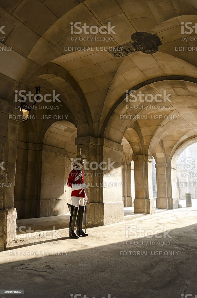 Member of the Household Cavalry Regiment, London stock photo