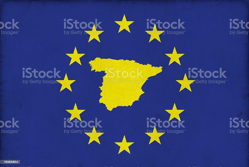 EU Member States: Spain royalty-free stock photo