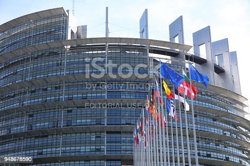 istock EU members flags in front of the European Parliament Building in Strasbourg. France 948678590