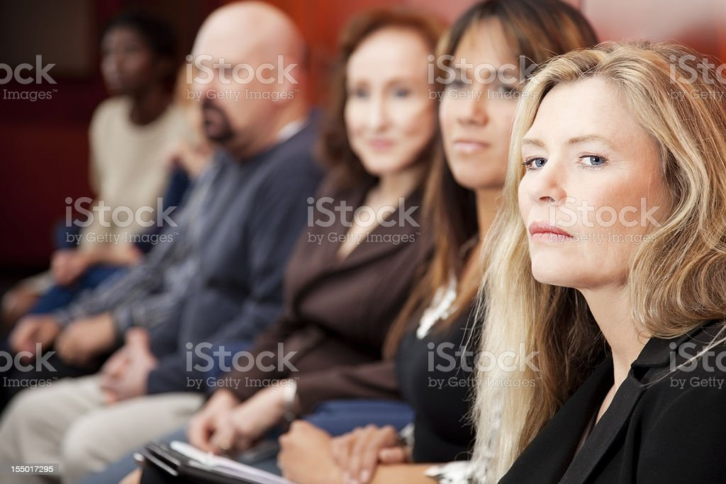 Members of diverse jury in a federal court royalty-free stock photo