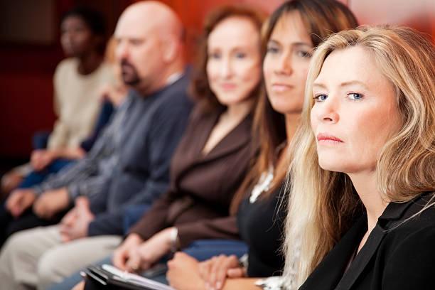 Mitglieder von verschiedenen jury in federal court – Foto