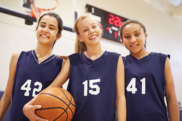 Mitglieder weibliche High-School-Basketball-Team – Foto
