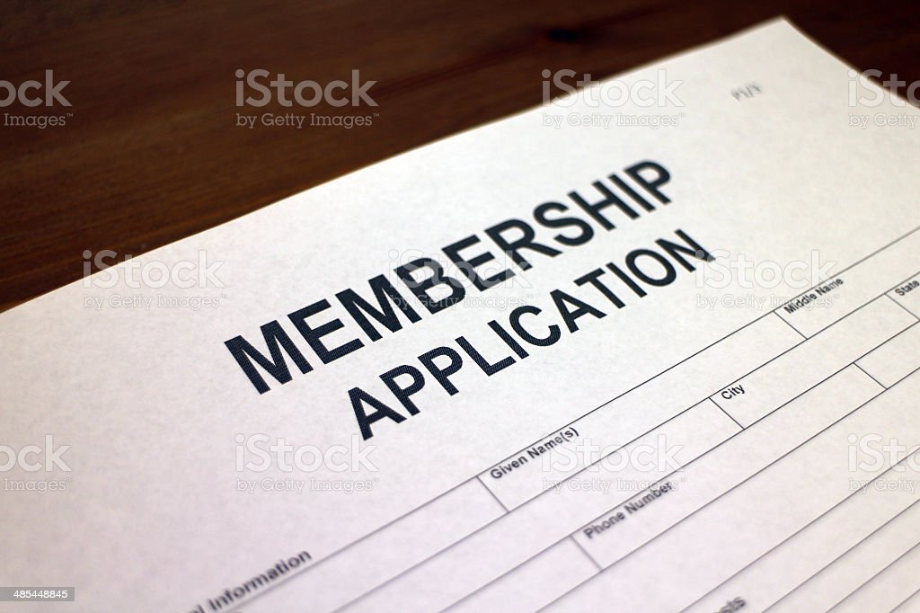 Membership Application Form stock photo