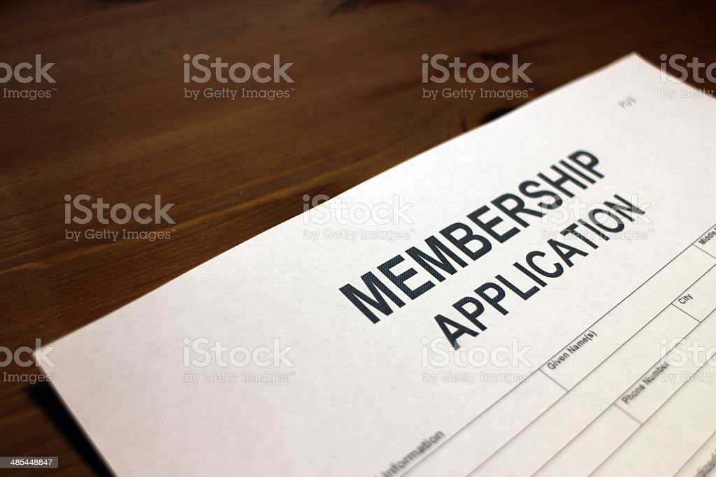 Membership Form stock photo