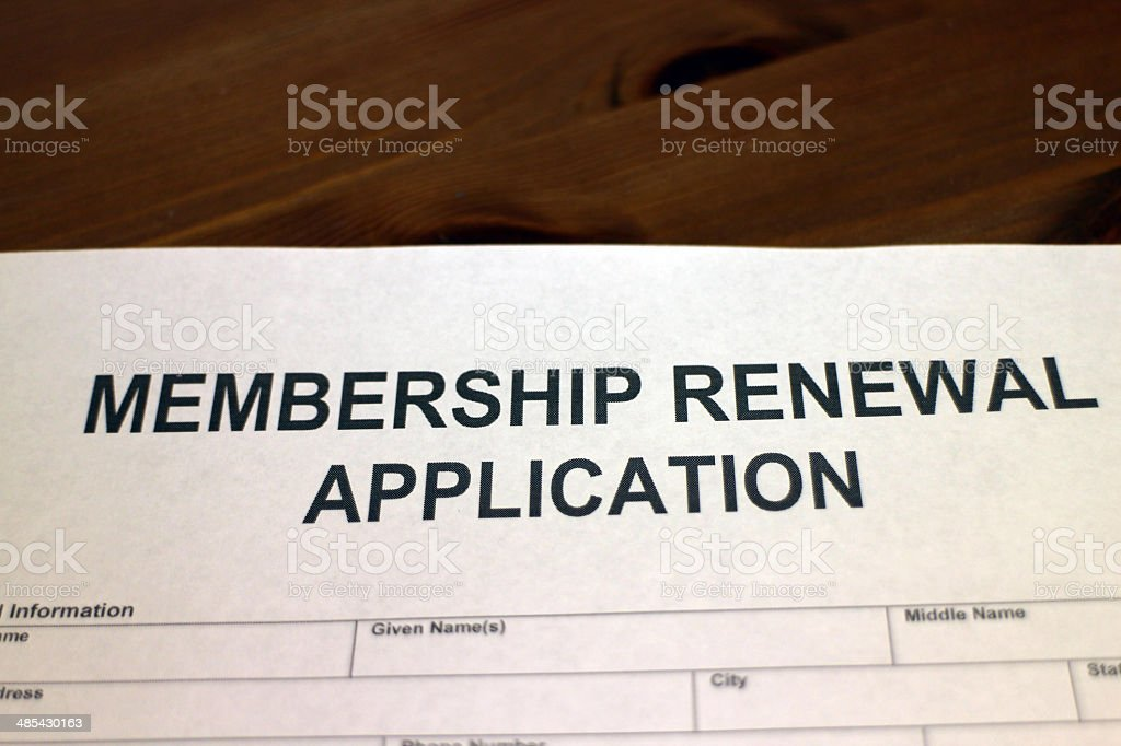 Membership Renewal stock photo