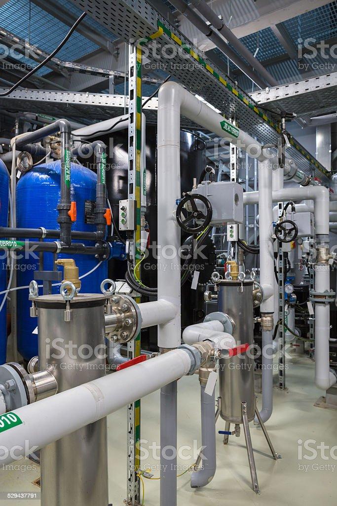 Membrane deaeration system stock photo