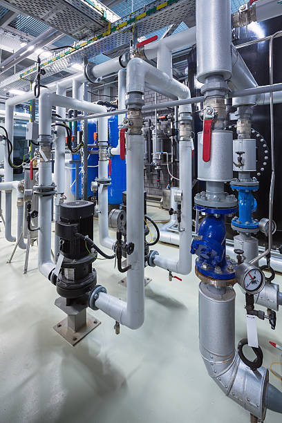 membrane deaeration system - cogeneration plant stock photos and pictures