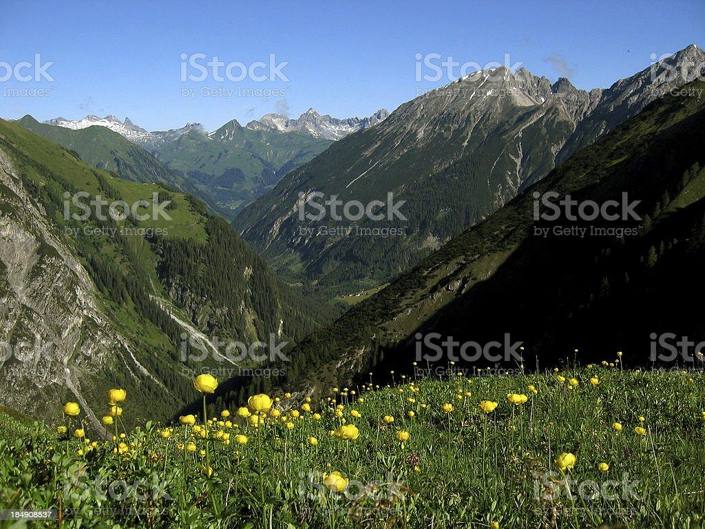 memminger alpine hut royalty-free stock photo
