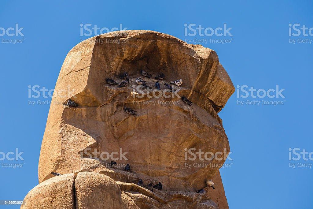 Memnon Colossi close Egypt stock photo