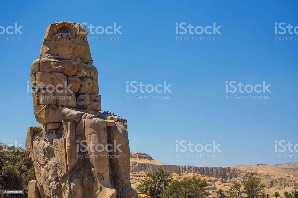Memnon egypt landscape stock photo