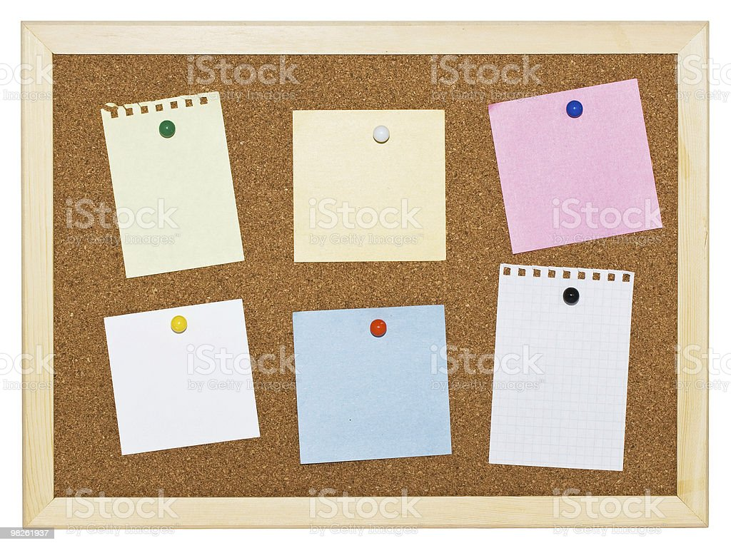 Memo board royalty-free stock photo