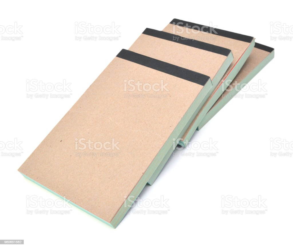 Memo pads or note pads stock photo