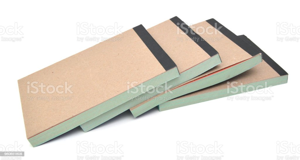 Memo pads or note pads with nice grey cover stock photo