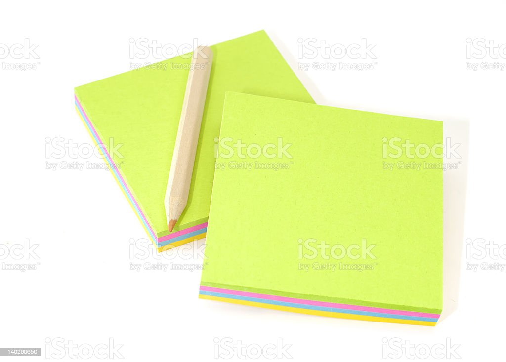 Memo Pads royalty-free stock photo