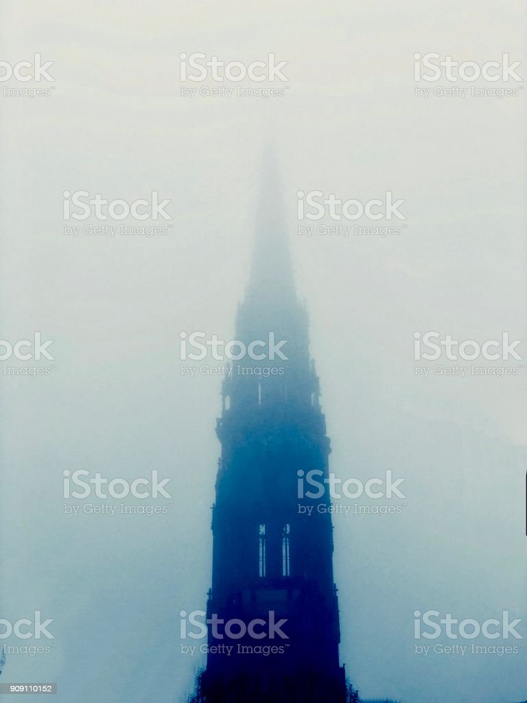 memorable Churchtower stock photo