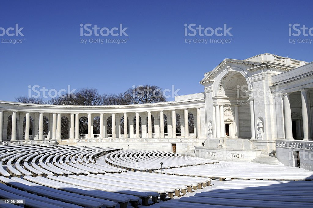 Memorial Amphitheater at Arlington Cemetery royalty-free stock photo