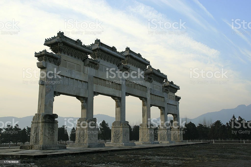 memorial arch stock photo