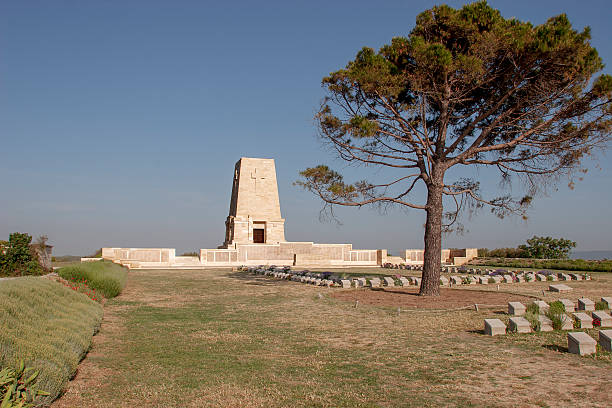 Memorial at the Gallipoli Battle fields in Turkey stock photo