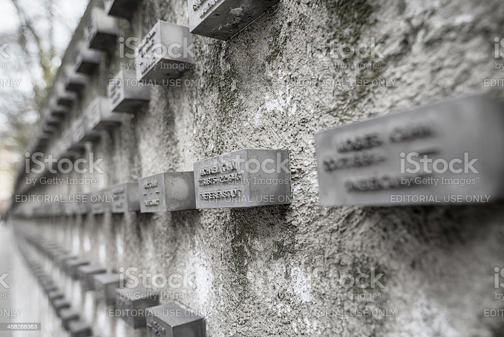 Memorial at the old jewish cemetery Judengasse Frankfurt royalty-free stock photo