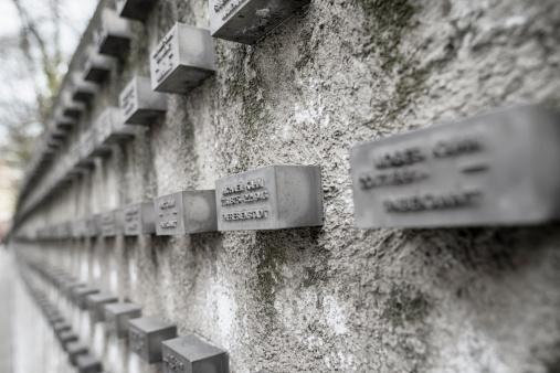 Memorial at the old jewish cemetery Judengasse Frankfurt