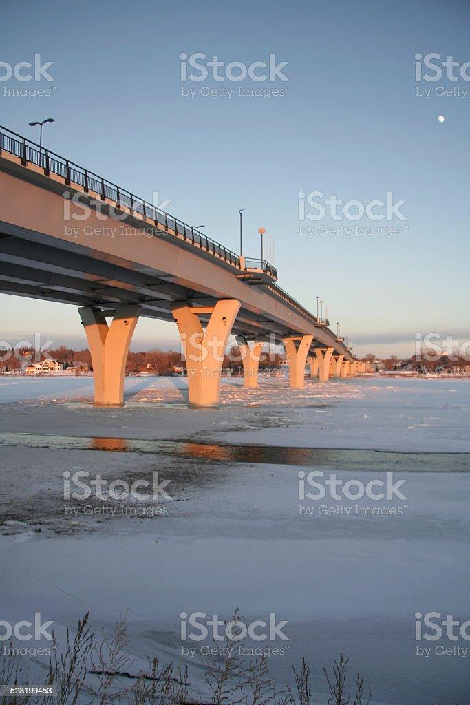 Memorial Bridge in Winter stock photo