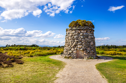 Memorial Cairn At The Battlefield Of Culloden Stock Photo - Download Image Now