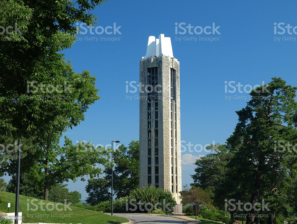 Memorial Campanile against clear blue sky stock photo