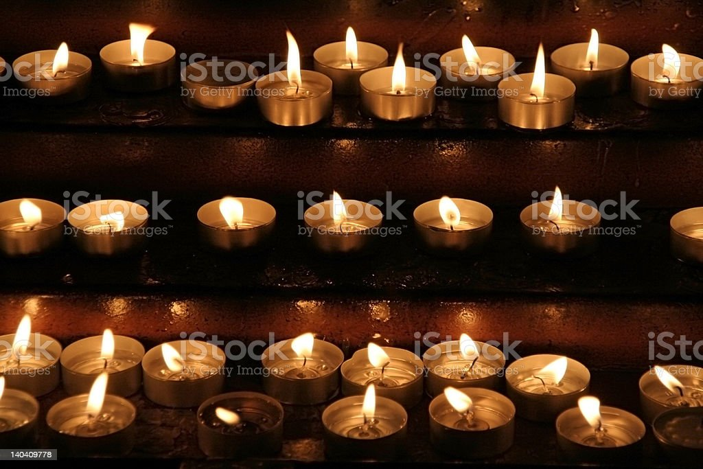 Memorial candles royalty-free stock photo