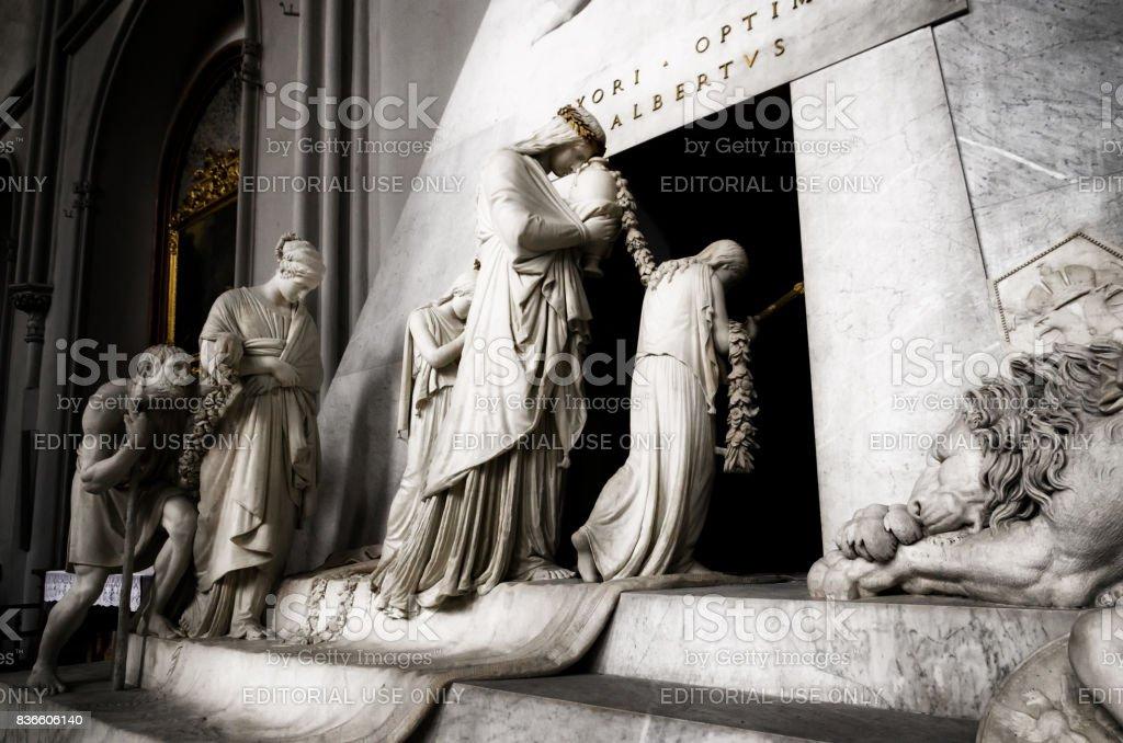 memorial cenotaph of archduchess Maria Christina of Austria stock photo